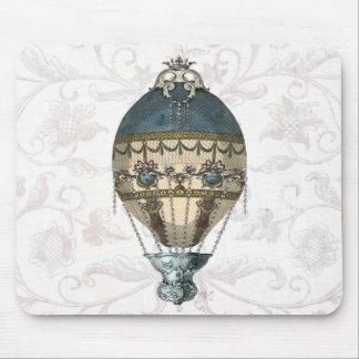 Baroque Balloon Blue & Cream Mouse Pad