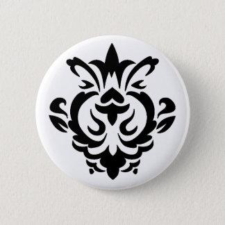 Baroque Black Single (button) 2 Inch Round Button