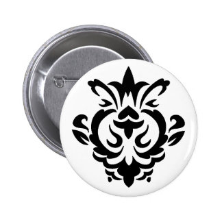 Baroque Black Single (button) 2 Inch Round Button