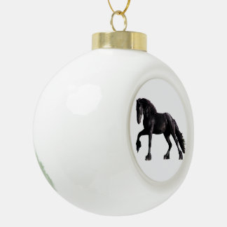 Baroque Colt Ceramic Ball Ornament