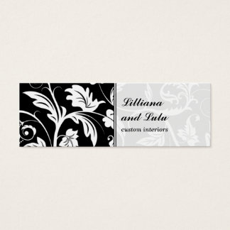 Baroque Damask Skinny Business Card