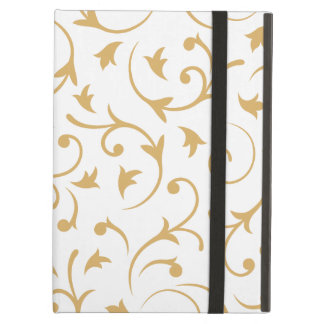 Baroque Design – Gold on White Cover For iPad Air