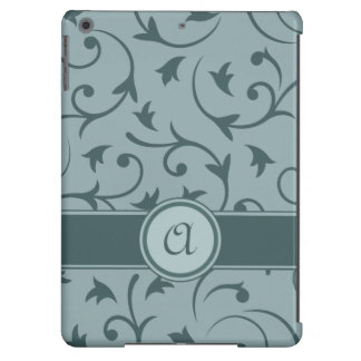 Baroque Design with Personalised Band in Greys iPad Air Case