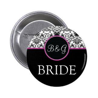 Baroque Elegance Bride Button