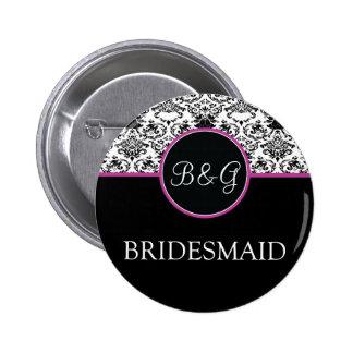 Baroque Elegance Bridesmaid Button