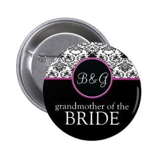 Baroque Elegance Grandmother of Bride Button
