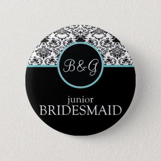 Baroque Elegance Junior Bridesmaid 2 Inch Round Button