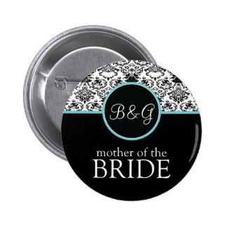 Baroque Elegance Mother of the Bride-Aqua Pin