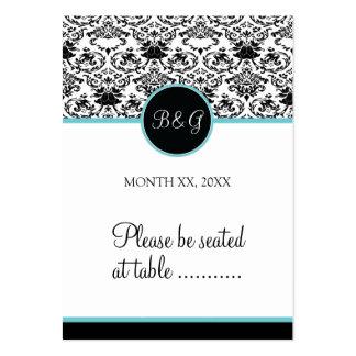 Baroque Elegance Place Card-Aqua Business Cards