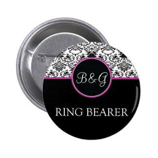 Baroque Elegance Ring Bearer Button