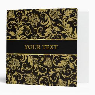 Baroque Floral Design Gold Tones-Template Vinyl Binder