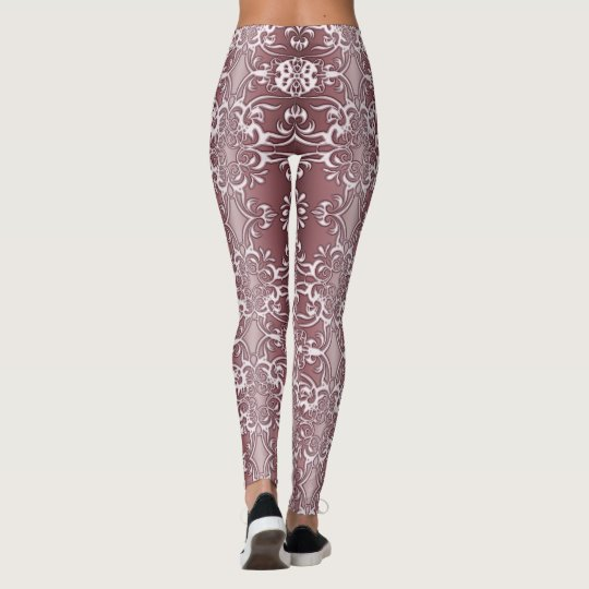 baroque floral pattern leggings