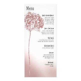 Baroque Flowerball Dinner Menu - mulberry Invite