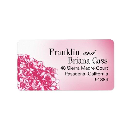 Baroque Flowerball - fuschia Label