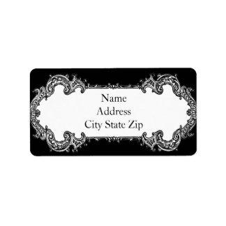 Baroque Frame Address Label
