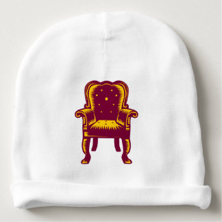 Baroque Grand Arm Chair Woodcut Baby Beanie
