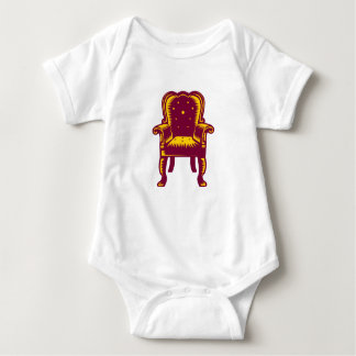 Baroque Grand Arm Chair Woodcut Baby Bodysuit