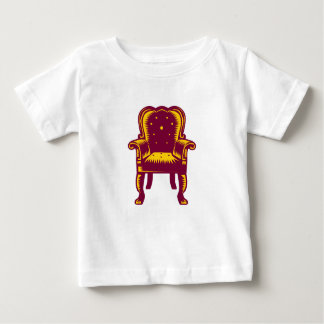 Baroque Grand Arm Chair Woodcut Baby T-Shirt