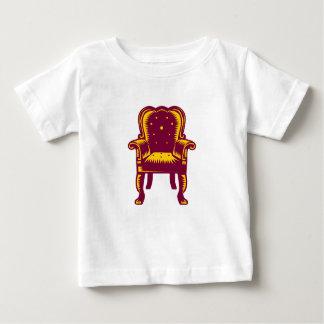 Baroque Grand Arm Chair Woodcut Baby T-Shirt