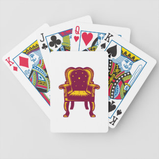 Baroque Grand Arm Chair Woodcut Bicycle Playing Cards