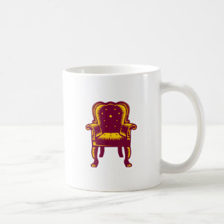 Baroque Grand Arm Chair Woodcut Coffee Mug