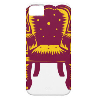 Baroque Grand Arm Chair Woodcut iPhone 5 Cases