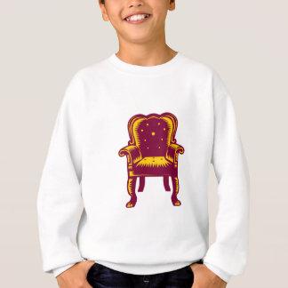 Baroque Grand Arm Chair Woodcut Sweatshirt