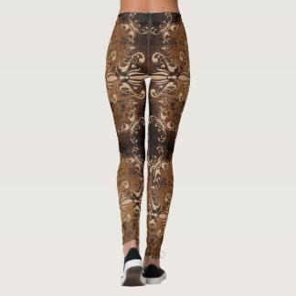 baroque grange texture leggings
