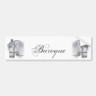 Baroque Horse Bumper Sticker