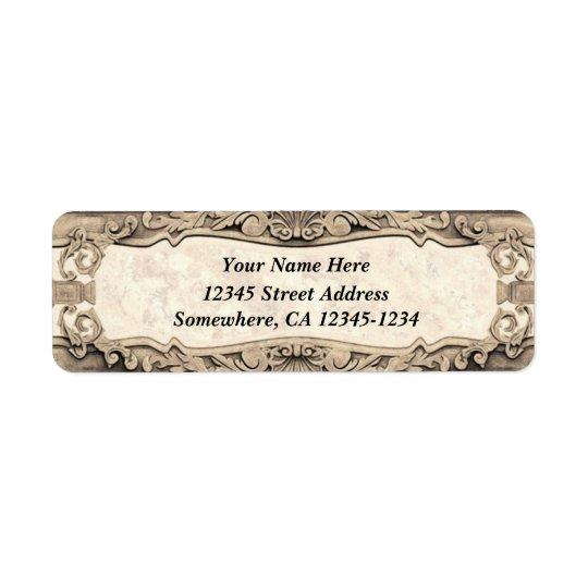 Baroque Inspired Design - Aged Stone Return Address Label