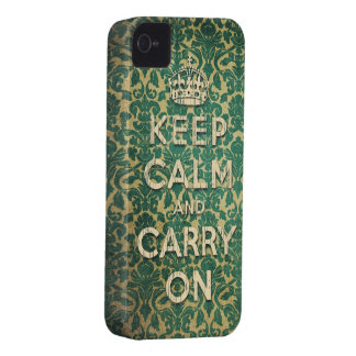 baroque keep calm and carry on iPhone 4 Case-Mate cases