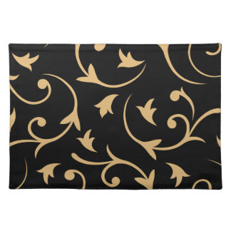 Baroque Large Design Black & Gold Placemat