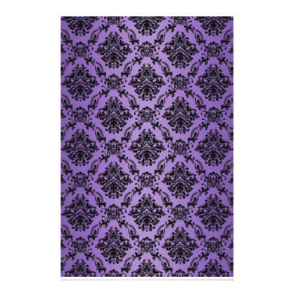 Baroque Light Purple Victorian Scrapbook Paper Customized Stationery