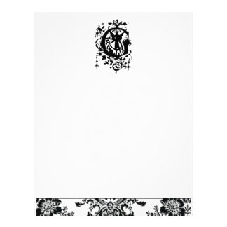Baroque Monogram G Customized Letterhead