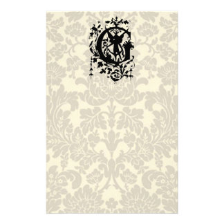 Baroque Monogram G Personalized Stationery