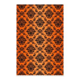 Baroque Orange Gothic Victorian Scapebook Sheet Stationery