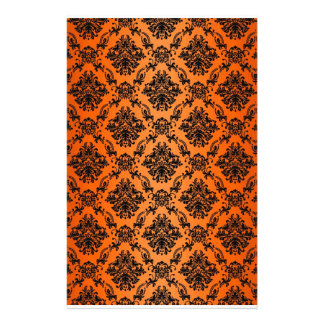 Baroque Orange Gothic Victorian Scapebook Sheet Stationery Paper
