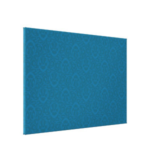 Baroque pattern blues gallery wrap canvas