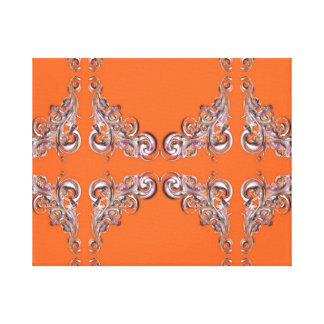 baroque pattern canvas print