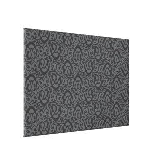 Baroque pattern grey canvas print