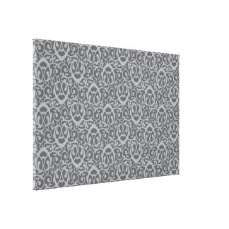 Baroque pattern greys stretched canvas prints