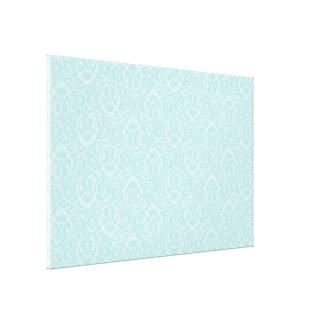 Baroque pattern light blues gallery wrap canvas