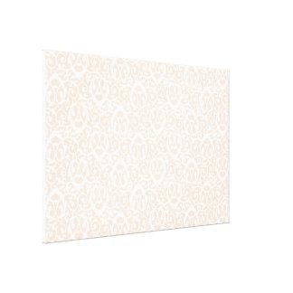Baroque pattern peach white gallery wrap canvas
