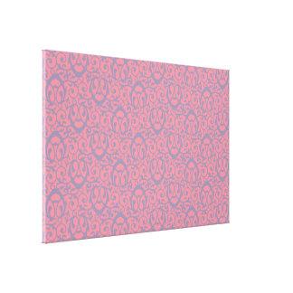 Baroque pattern pink purple canvas print