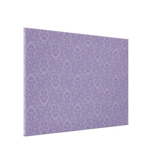 Baroque pattern purples 2 gallery wrapped canvas