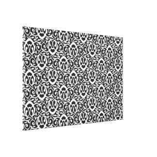 Baroque pattern white canvas prints