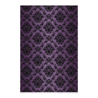 Baroque Plum Victorian Scrapbook Paper Stationery Paper