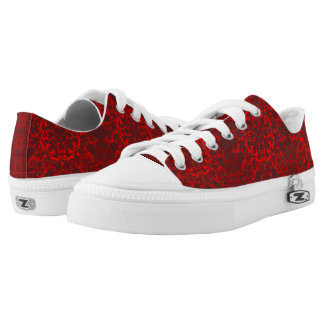 baroque red pattern Low-Top sneakers