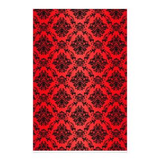 Baroque Red Victorian Scrapbook Paper
