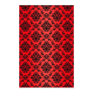 Baroque Red Victorian Scrapbook Paper Personalized Stationery